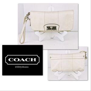 Coach Large Leather Wristlet